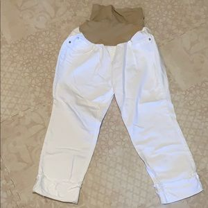 White Maternity Cropped Jeans size XL